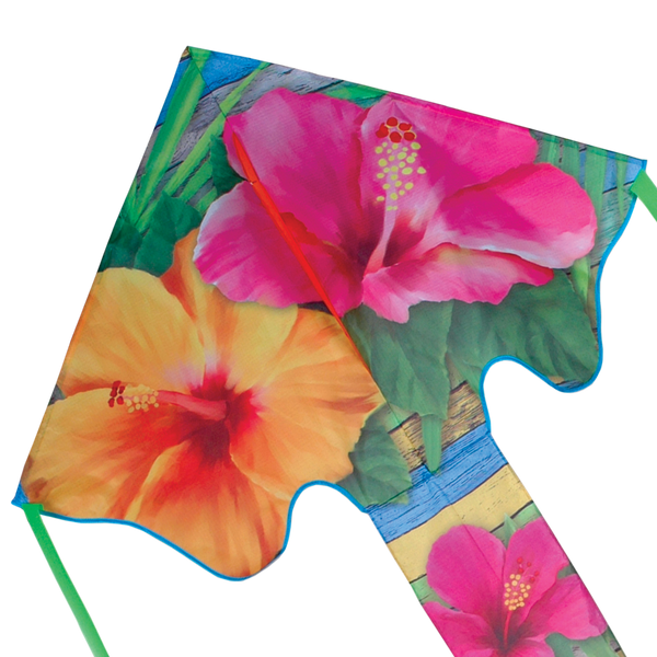 Large Easy Flyer Kite - Tropical Hibiscus