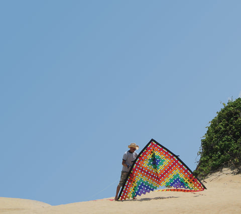 11 ft. Mesh Delta Kite - Rainbow
