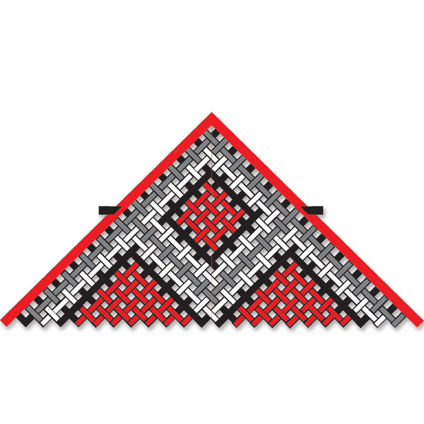 11 ft. Mesh Delta Kite - Red/Black/White