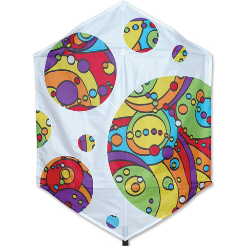 56 in. Rokkaku Kite - Rainbow Orbit