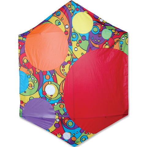 Rokkaku Kite - Rainbow Bubbles