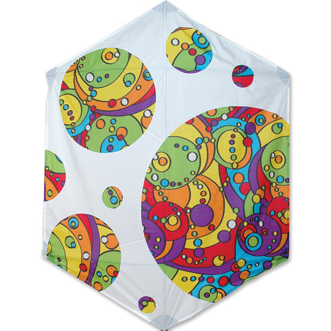 Rokkaku Kite - Rainbow Orbit Bubbles