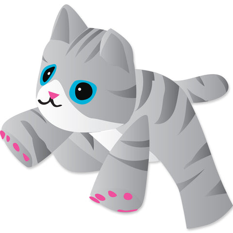 4 ft. Gray Tabby Kitten Line Device for Kites