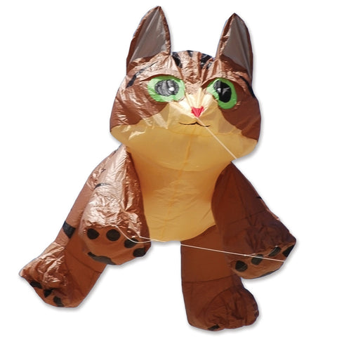 4 ft. Brown Tabby Kitten Line Device for Kites