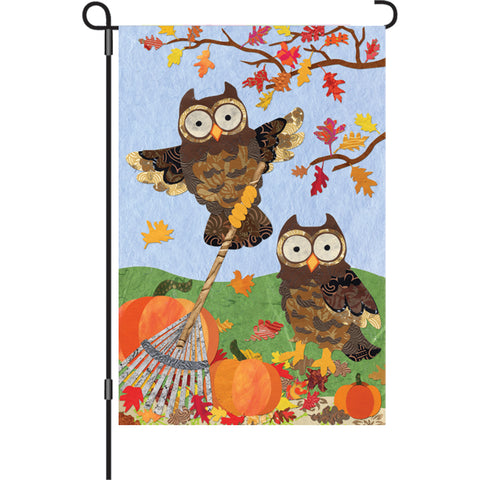 12 in. Flag  - Autumn Owls