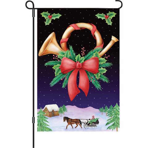 12 in. Flag - Holiday Horn