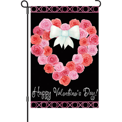 12 in. Flag  - Valentine Wreath