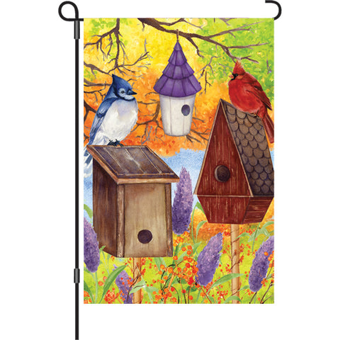 12 in. Flag - Fall Bird Gathering