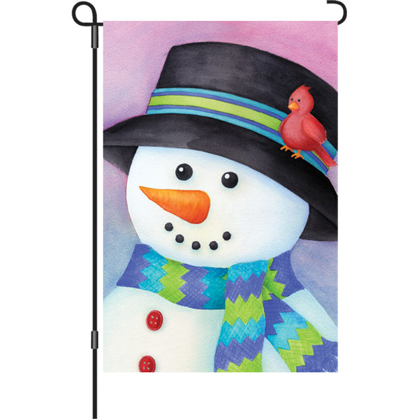 12 in. Flag - Friendly Snowman