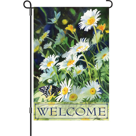 12 in. Flag  - Welcome Daisies
