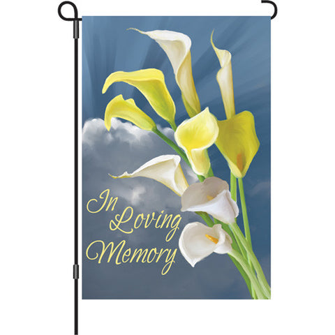 12 in. Flag - In Loving Memory