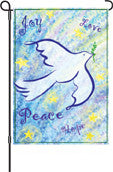 12 in. Flag - Peace & Joy