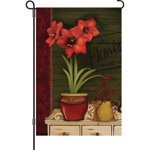 12 in. Flag - Amaryllis