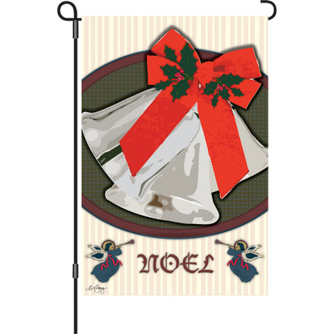 12 in. Flag - Christmas Bells
