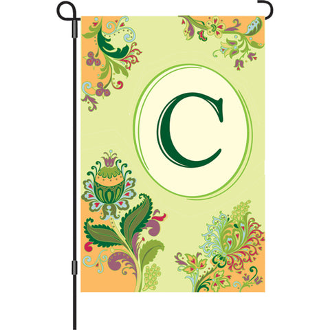 12 in. Spring Monogram Flag - C