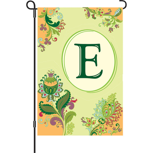 12 in. Spring Monogram Flag - E