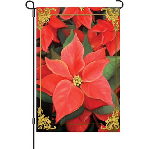 12 in. Flag - Elegant Poinsettia