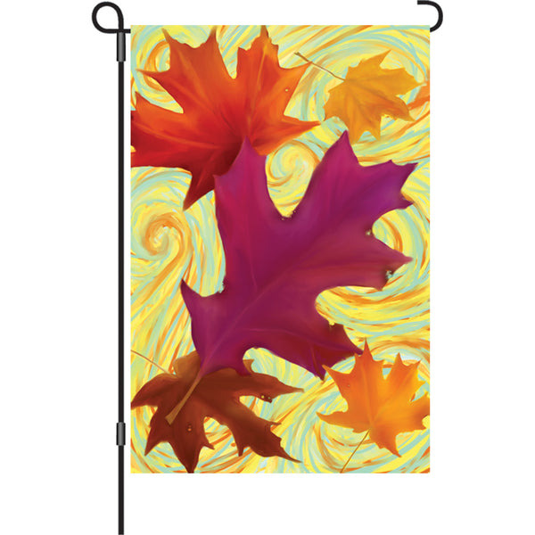 12 in. Flag - Swirling Leaves