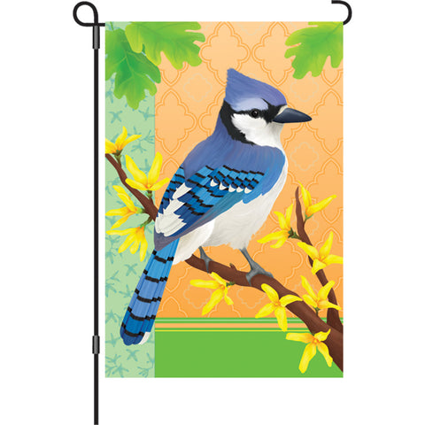 12 in. Flag - Blue Jay In Spring