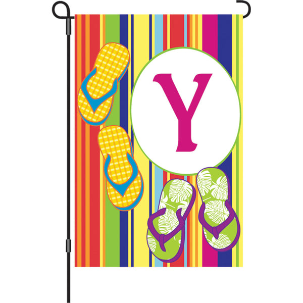 12 in. Summer  Monogram Flag - Y