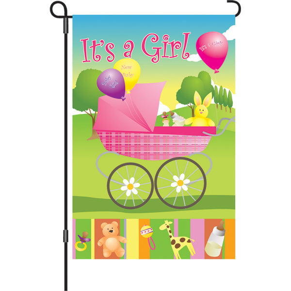12 in. Flag - Rock-A-Bye Baby Girl