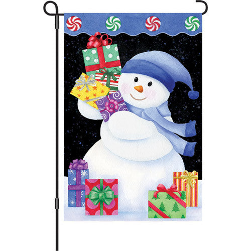 12 in. Flag - Snowman Presents