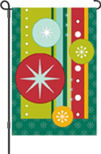 12 in. Flag - Retro Christmas