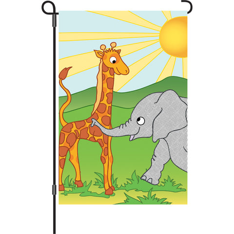 12 in. Flag - Zoo Pals