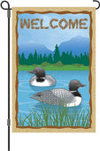 12 in. Flag - Loon Welcome