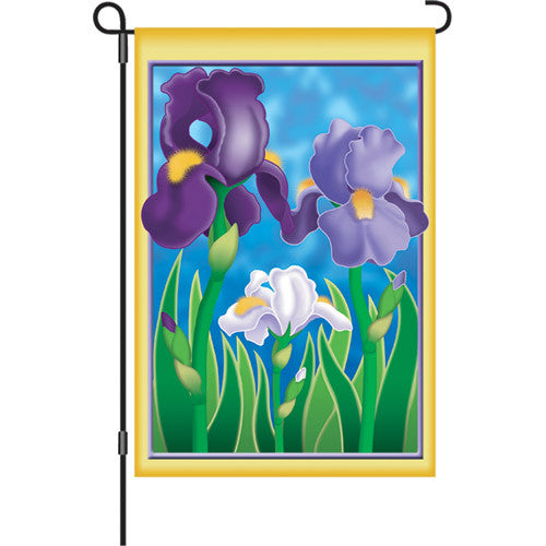 12 in. Flag - Enchanting Irises