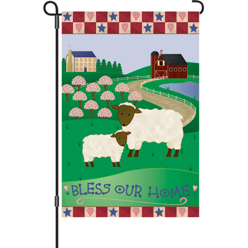 12 in. Flag - Bless Our Home