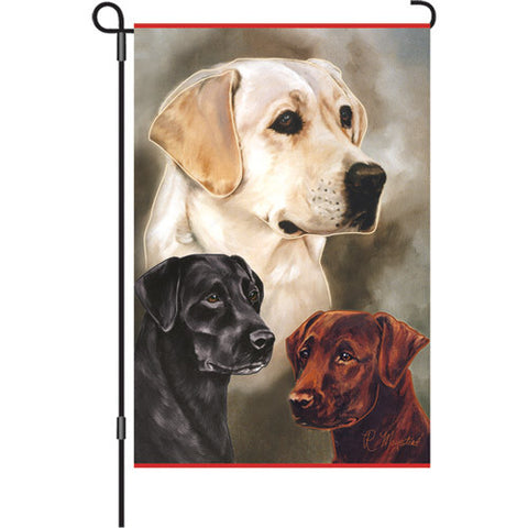 12 in. Flag - Labradors