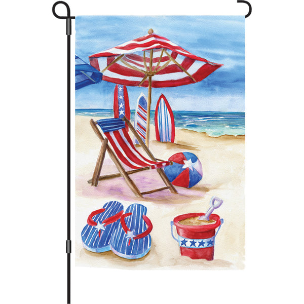 12 in. Flag - Patriotic Beach