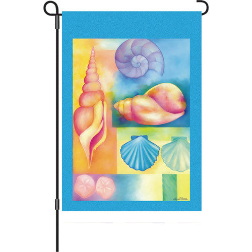 12 in. Flag - Seashells