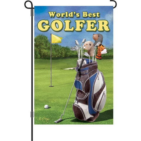 12 in. Flag - Best Golfer
