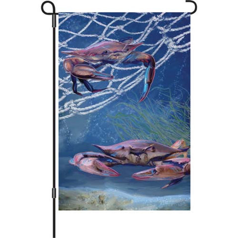 12 in. Flag - Ocean Blue Crab