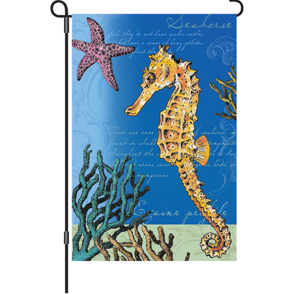 12 In Flag  - Swimming Seahorse