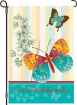 12 in. Flag - Wonderful Butterflies