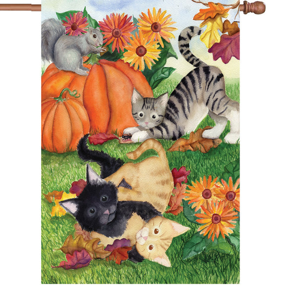 28 in. Flag - Harvest Kittens