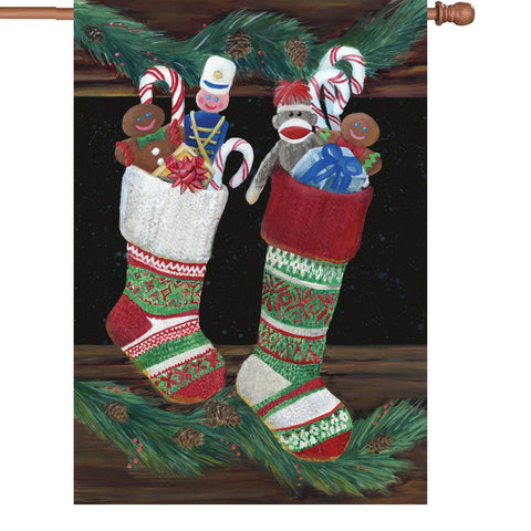 28 in. Flag - Christmas Stockings