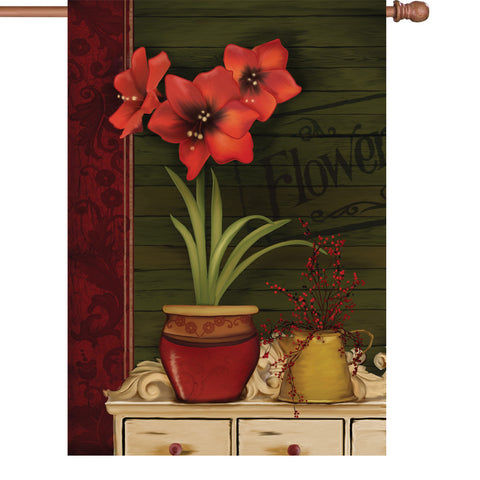 28 in. Flag - Amaryllis