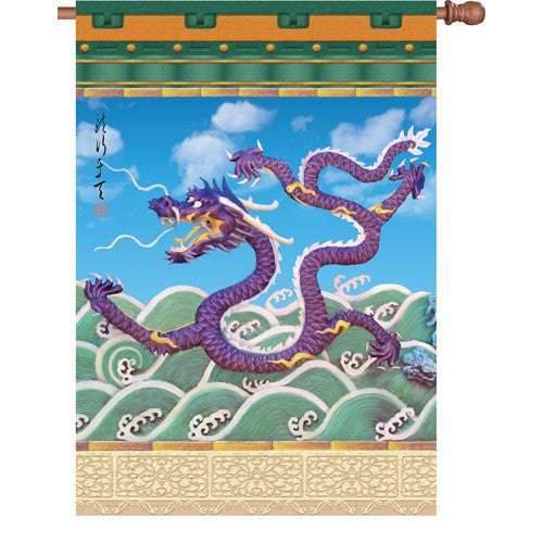 28 in. Flag - Imperial Dragon