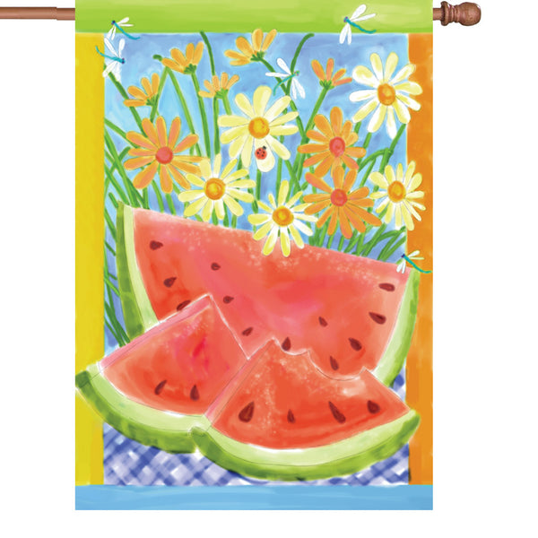 28 in. Flag - Vintage Watermelon