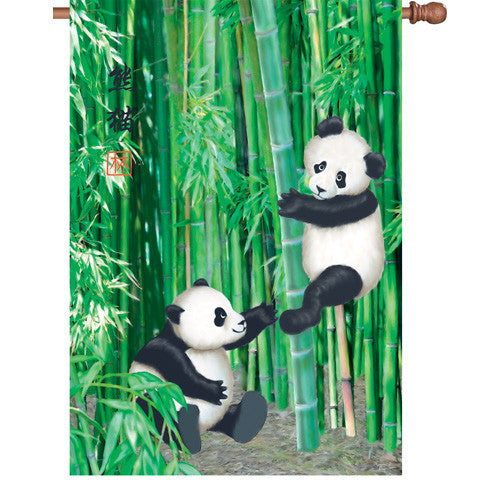 28 in. Flag - Playful Pandas