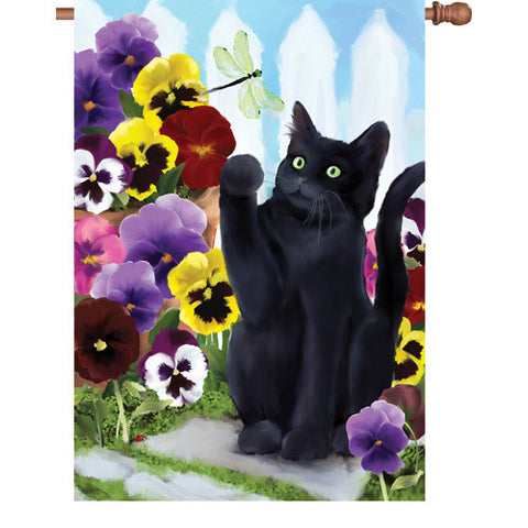 28 in. Flag - Flower Kitten