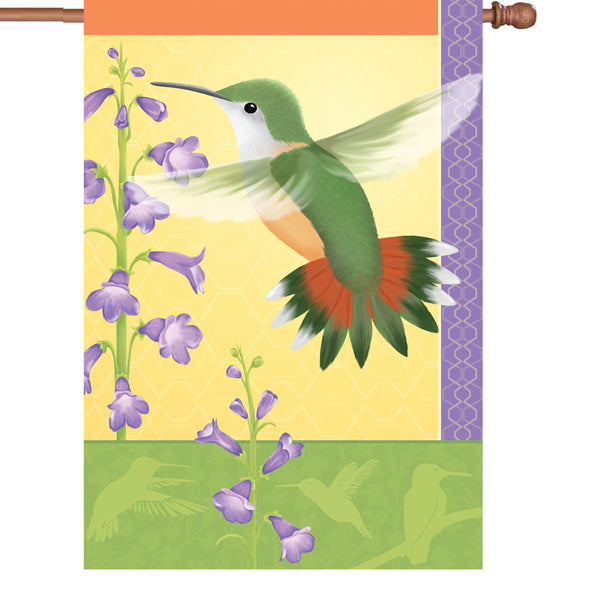 28 in. Flag - Rufous Hummingbird