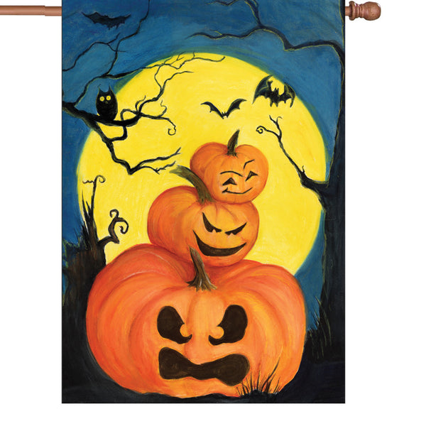28 in. Flag - Spooky Jack Olantern Stack