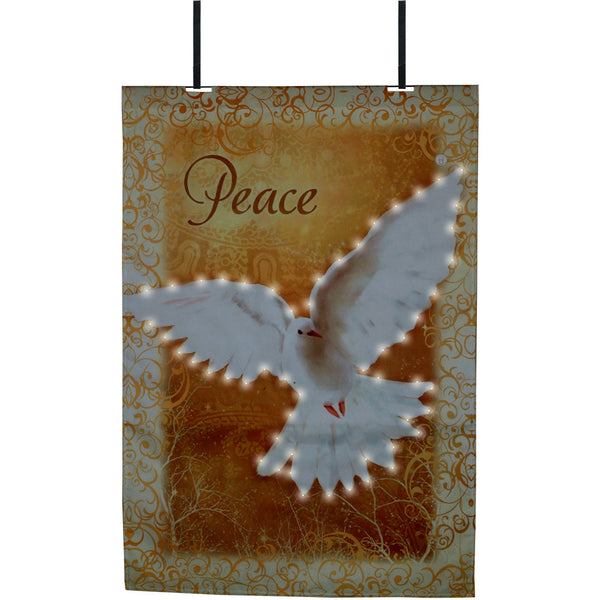 28 in. Flag - Heaven Peace (Fiber Optic)