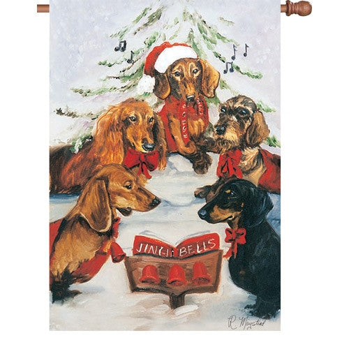 28 in. Flag - Dachshund Choir