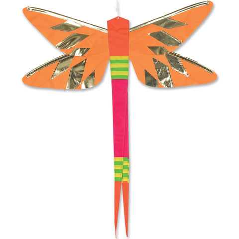 SoundWinds David Ti Damselfly Hanging Banner - Yellow